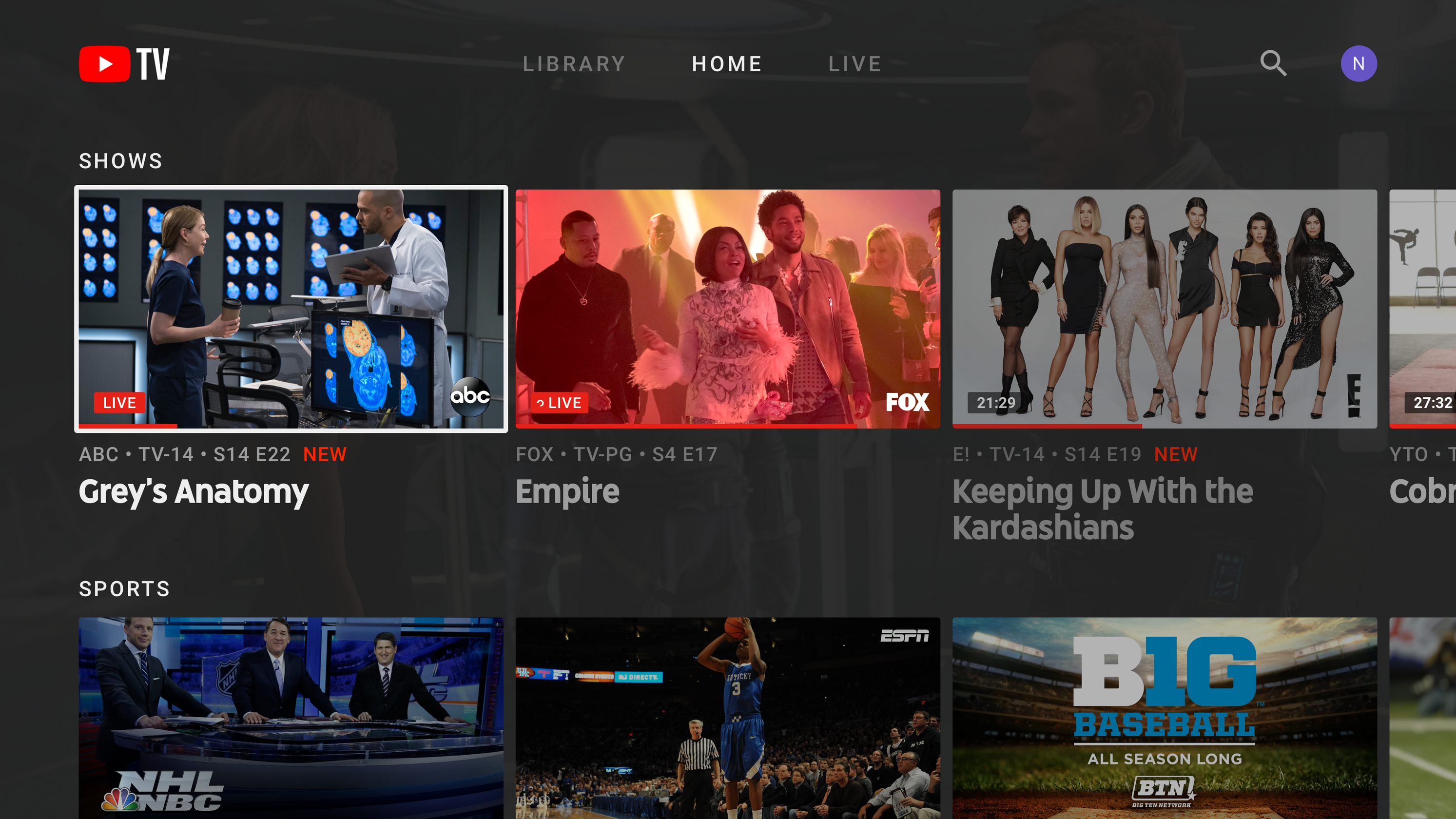 youtube tv 2