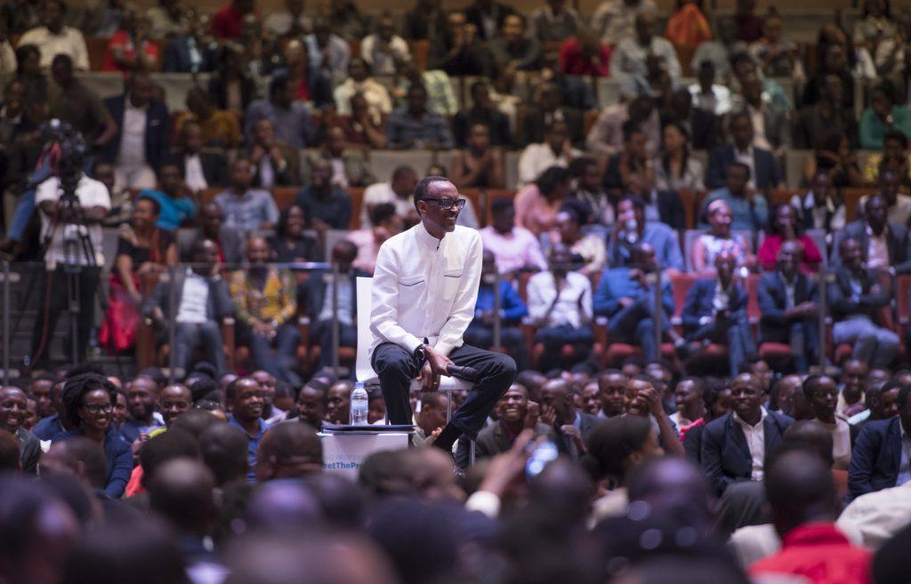 kagame townhall meet the president