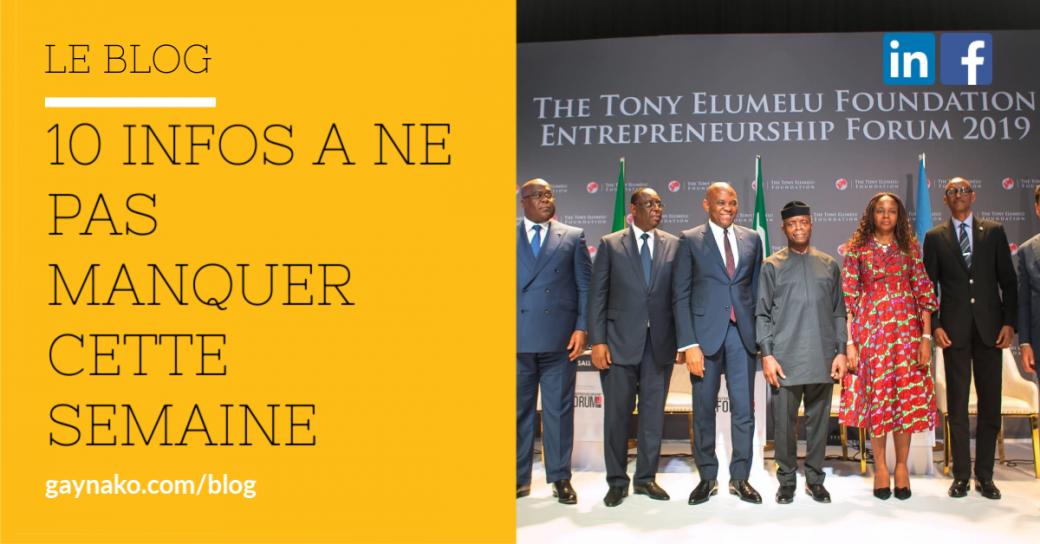Forum de l'entrepreneuriat de la Fondation Tony Elumelu