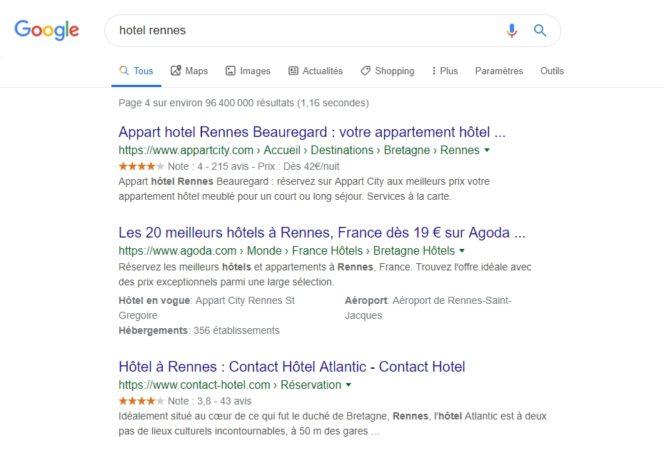 étoiles google