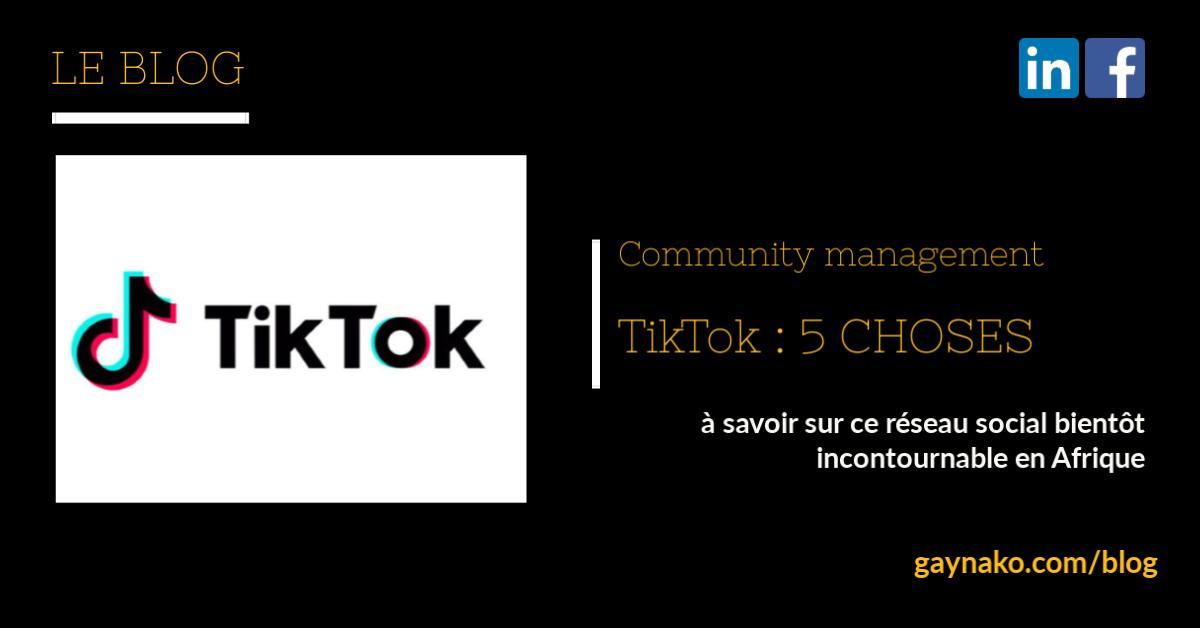 community management tiktok