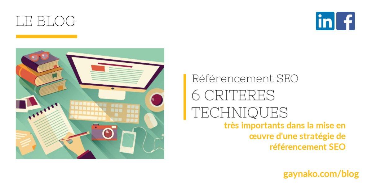 Referencement SEO critères techniques