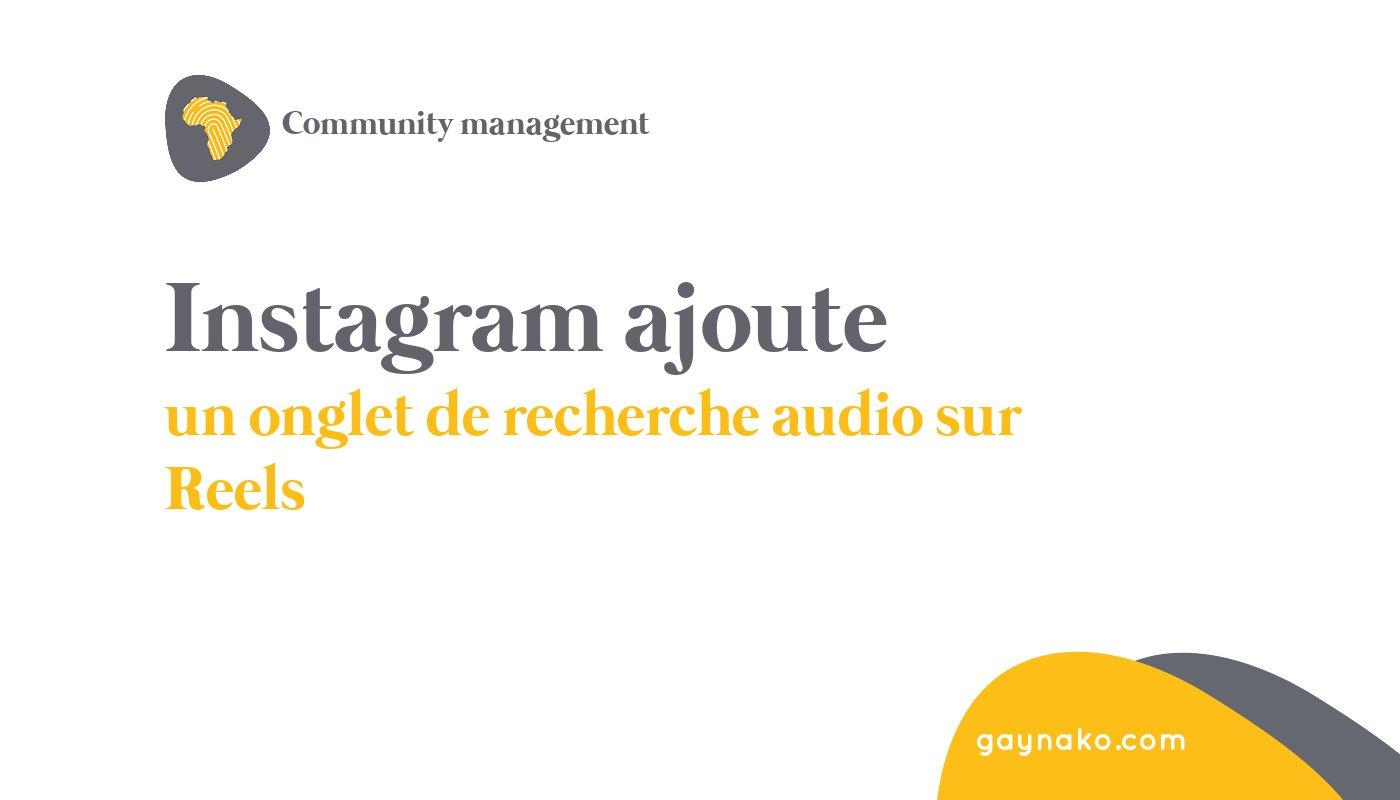 instagram recherche audio reels
