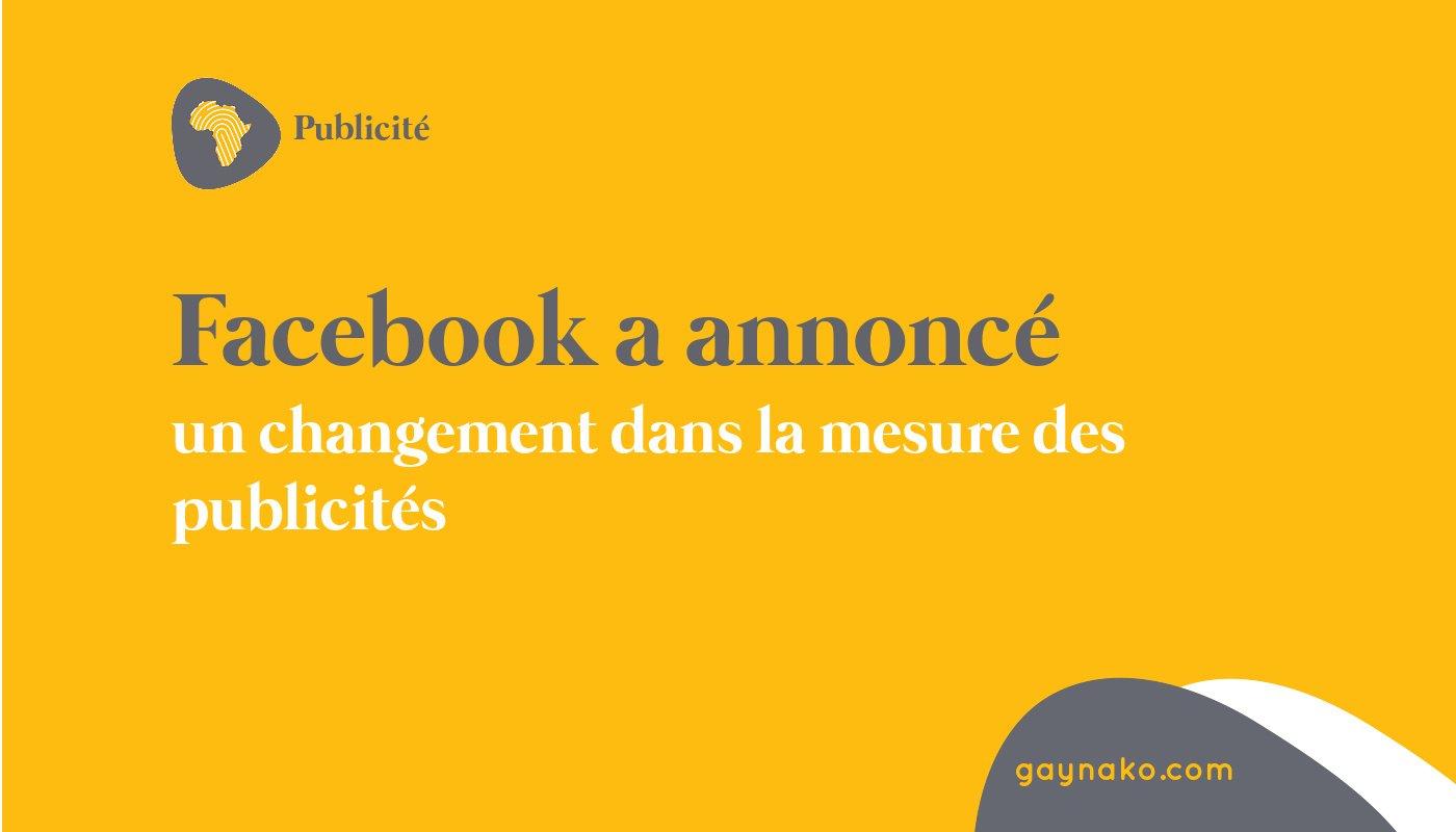 Facebook changement mesure publicités