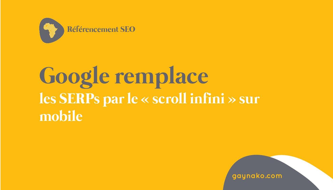 google scroll infini